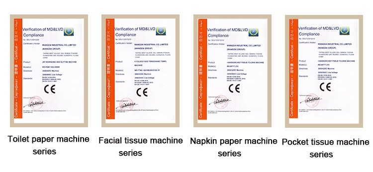 CE Certification of Toilet Paper Rolls Packing Machine
